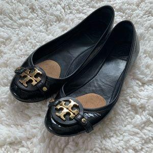 Tory Burch Patten Leather Ballet Flats